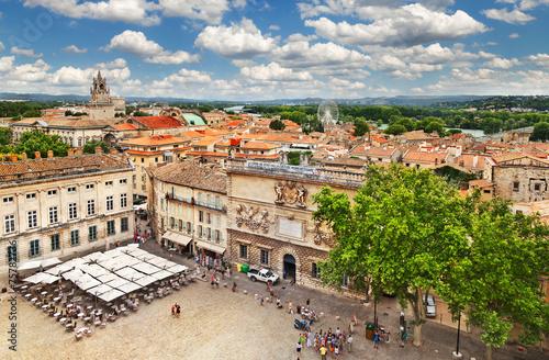 Medieval town Avignon, France Canvas Print