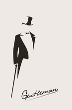 Silhouette Of A Gentleman In A...