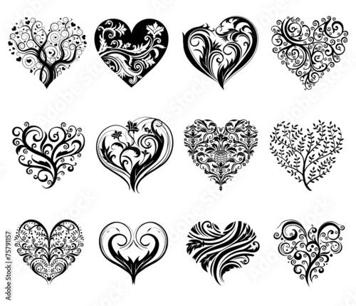 Fototapeta Tattoo hearts. obraz