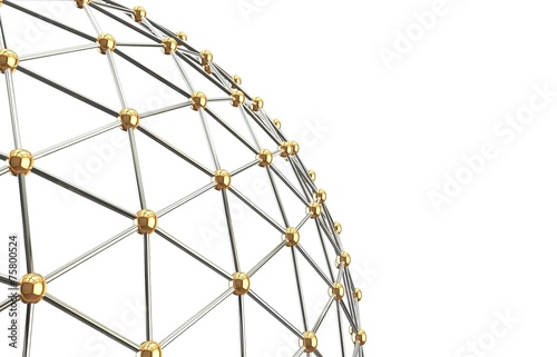 Abstract network. Isolated background