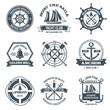 Nautical Label Black