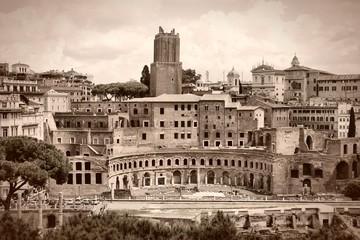 Fototapeta Rzym Rome sepia - Trajan Forum