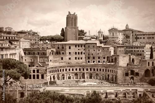 Rome sepia - Trajan Forum - 75810596