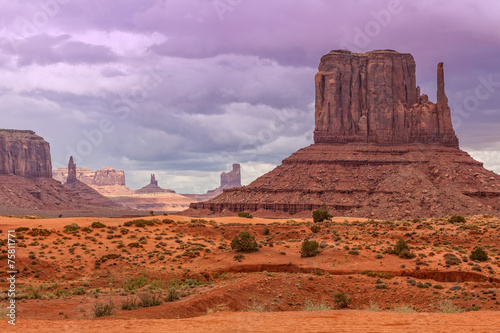 Canvas Prints Orange Glow Monument Valley Landscape