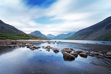 Wast Water, In Wasdale In The Lake District, Cumbria, England.