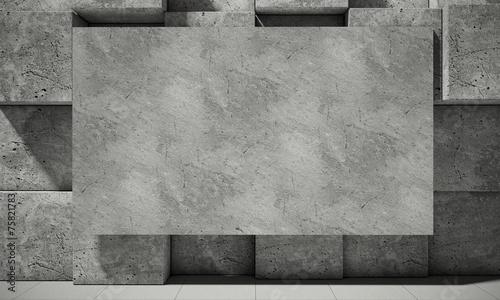 Abstrakcjonistyczny tło beton, 3d ilustracja