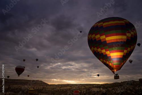 Hot air balloon, Cappadocia Turkey Fototapet