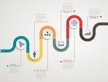 Road Infographic Timeline With...