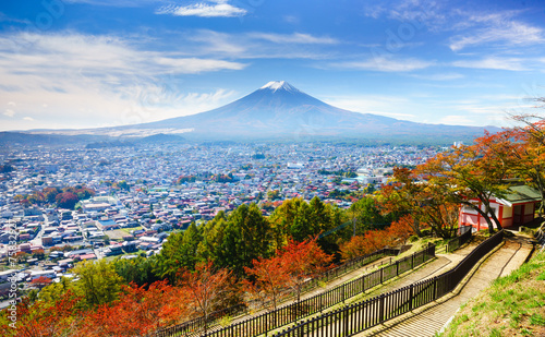 Foto op Plexiglas Japan Aerial view of mt.Fuji, Fujiyoshida, Japan