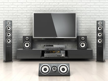 Home Cinemar System. TV,  Ouds...