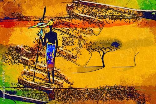 Africa retro vintage style