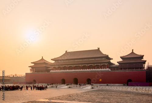 Poster Pekin Forbidden city. Beijing, China