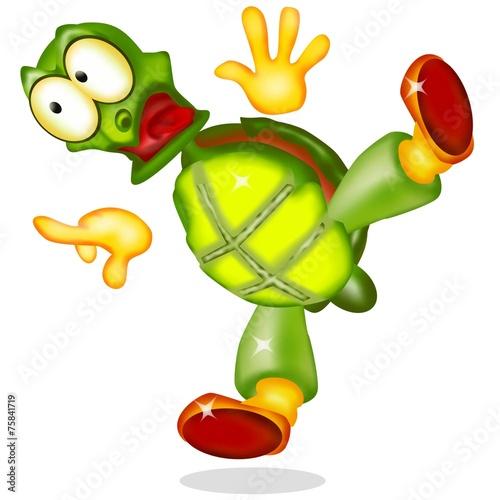 Fotografie, Obraz  tartaruga curiosa