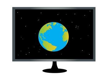 ekran,ziemia,internet,cały świat