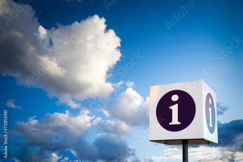 Fotografie, Obraz  Help desk, Information sign at airport for tourist