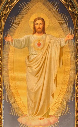 Vienna - Heart of Jesus paint on altar of Sacre Coeur church Fototapeta