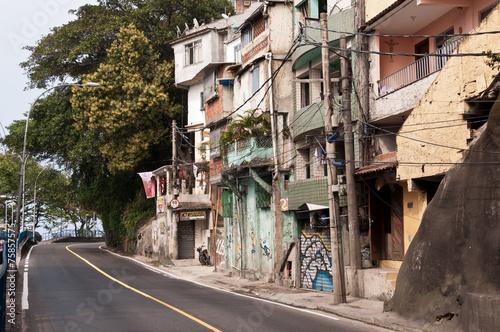 Streets of Favela Vidigal in Rio de Janeiro, Brazil Poster