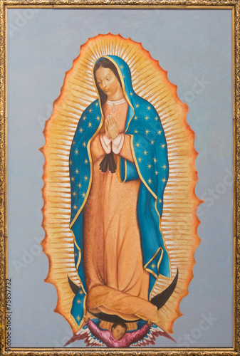 Fotografie, Obraz  Brussels - paint of Virgin Mary of Guadalupe