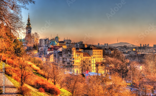 Photo View of Belgrade city center - Serbia