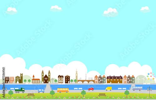 Fotografía 運河のある街