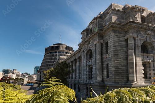 Parliament buildings in Wellington, New Zealand