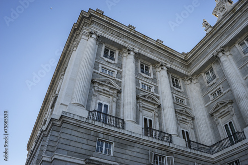 Fotobehang Artistiek mon. Urban, Royal Palace of Madrid, located in the area of the Habsbu