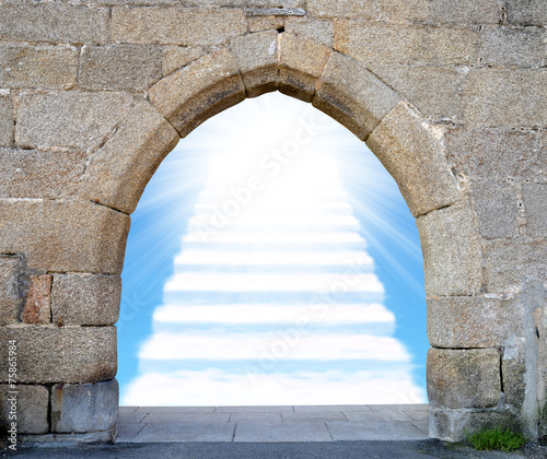 Foto Gate with stairway to heaven