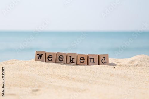 Obraz Weekend breaks and beach holidays - fototapety do salonu
