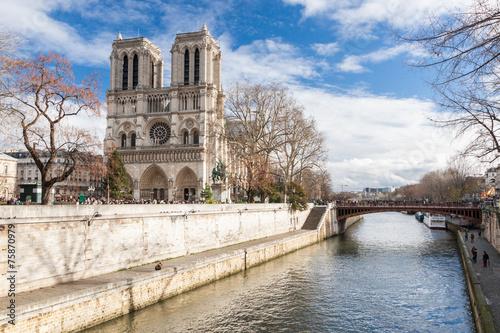 Fotografia  Notre Dame de Paris, France.