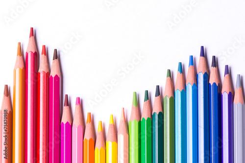 Fotografía  Crayons de couleur multicolores
