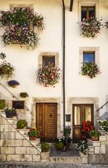Fototapeta na wymiar italian doors and windows