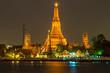 Wat Arun Temple River front in bangkok City Thailand
