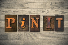Pin It Concept Wooden Letterpr...