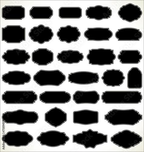 Obraz Blank frame and label collection - fototapety do salonu