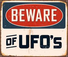 Vintage Metal Sign - Beware Of...