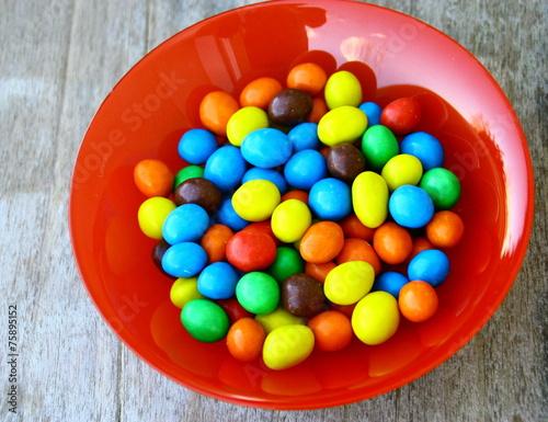 Foto op Aluminium Snoepjes bonbons au chocolat,multicolore,confiserie