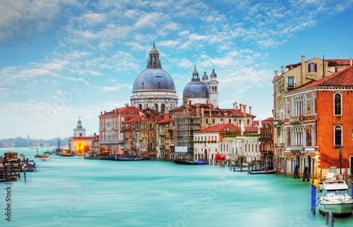 Poster Venise Venice - Grand Canal and Basilica Santa Maria della Salute