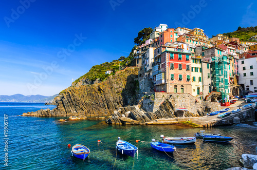 Photo sur Aluminium Ligurie Riomaggiore, Cinque Terre, Italy