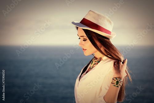 Fotografie, Obraz  Beautiful portrait of fashion model