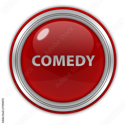 Fotografija  Comedy circular icon on white background