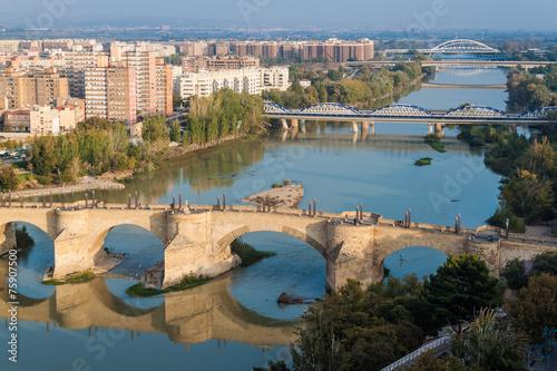 Puente de Piedra (Stone bridge) in Zaragoza