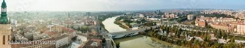Aerial view of Zaragoza