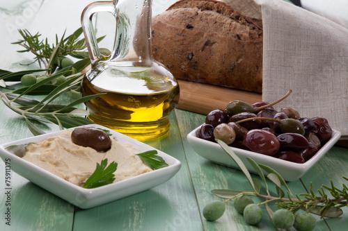 Fotografía  Hummus - Mediterranean snack