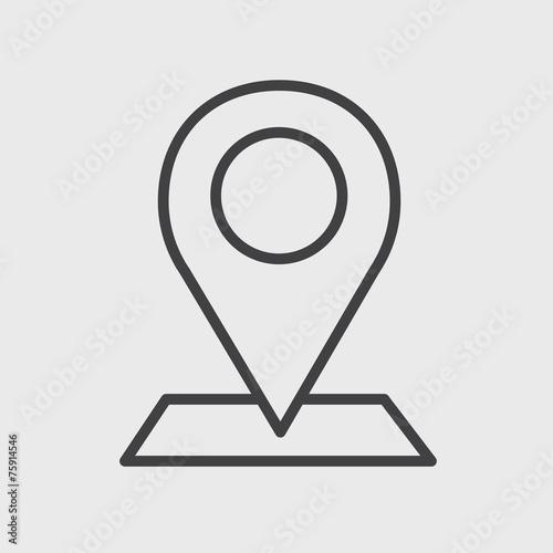 Fotografía  Check in Location Direction Place Icon Vector Concept