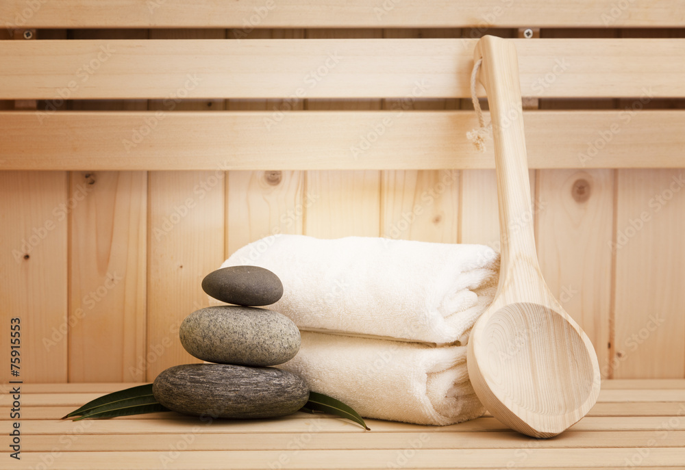 Fototapeta sauna and spa accessories