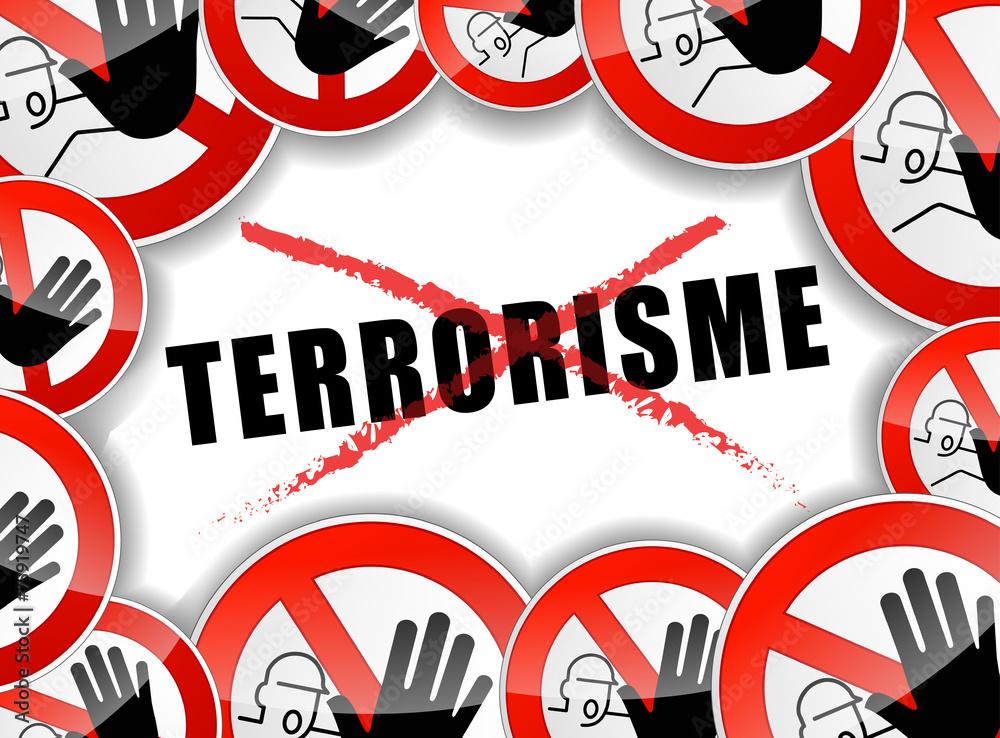Fototapeta no terrorism concept illustration