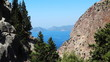 Panorama of coastline landscape of mediterranean sea turkey