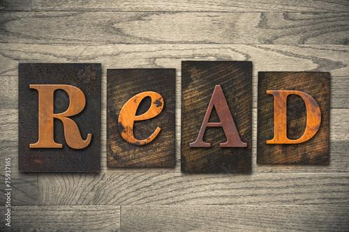 Fotografía  Leer Concepto de madera tipo de tipografía