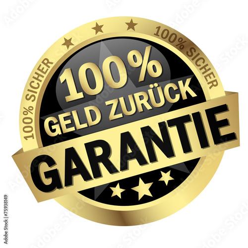 Fotografía  Button - 100% Geld Zurück Garantie