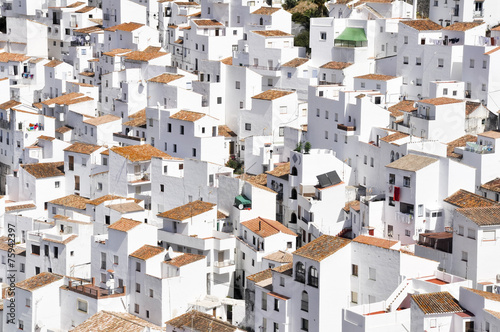 White town of Casares, Malaga (Spain)